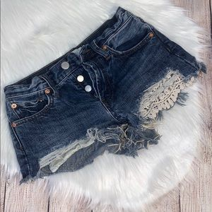 Free People denim shorts size 24